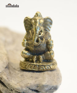 Statue mini Ganesha Großohr Messing