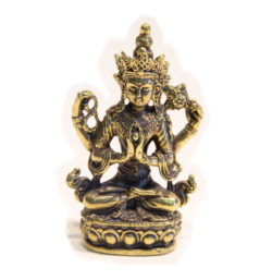 Lokeshvara Statue Messing 6cm