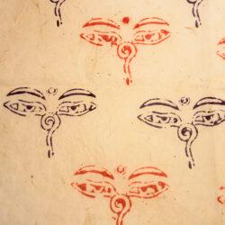 Geschenkpapier Buddhas Eyes (handgeschöpft)