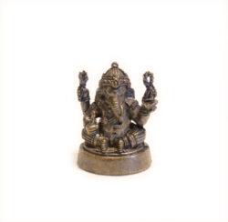 Statue mini Ganesha filigran Messing geschwärzt