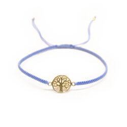 Lebensbaum Armband Silber vergoldet