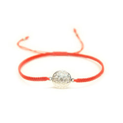 Blume des Lebens Armband Silber