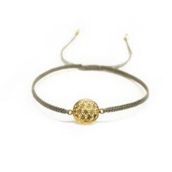 Blume des Lebens Armband vergoldet