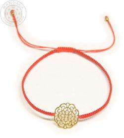 Mandala Armband Silber vergoldet