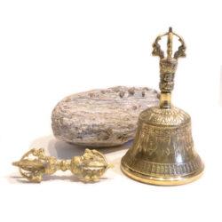 Glocke mit Dorje Höhe 16,5cm