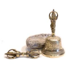 Glocke mit Dorje Messing Höhe 21cm