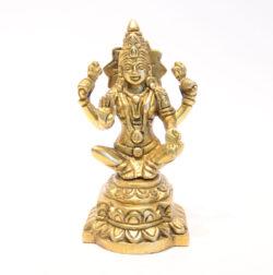 Dhanwantari Statue sitzend Messing 12cm