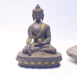 Medizinbuddha Statue Messing antik 24cm