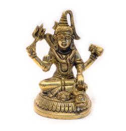 Shiva Statue sitzend Messing 13cm