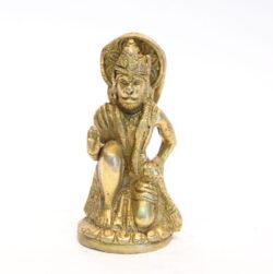 Hanuman Statue sitzend Messing 12cm
