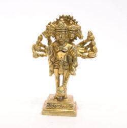 Hanuman Statue stehend Messing 15cm