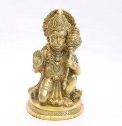 Hanuman Statue sitzend Messing 23cm