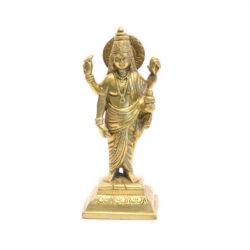 Dhanwantari Statue stehend Messing 21cm
