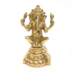Ganesha Statue sitzend Messing 13cm
