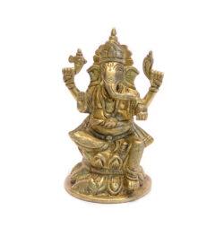 Ganesha Statue sitzend Messing 12cm
