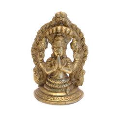 Naga Schlangenbuddha Statue Messing 13cm