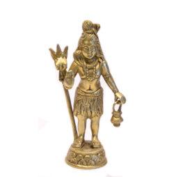 Shiva Statue stehend Messing 16cm