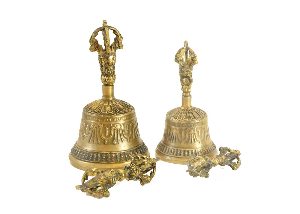 Glocke mit Dorje Höhe 21cm