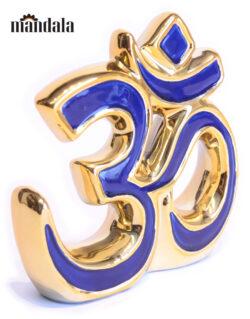OM Keramik blau 14cm