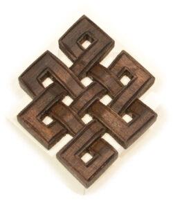 Unendlichkeitsknoten Holz dunkel