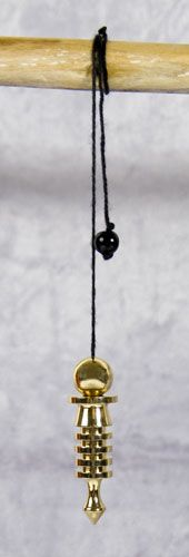 Isis-Pendel Messing vergoldet Länge 5,5cm