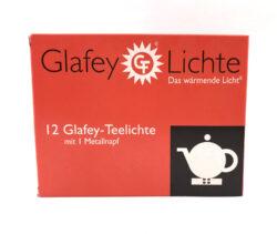 Glafey Teelichte 12 Stück mit 1 Metallnapf